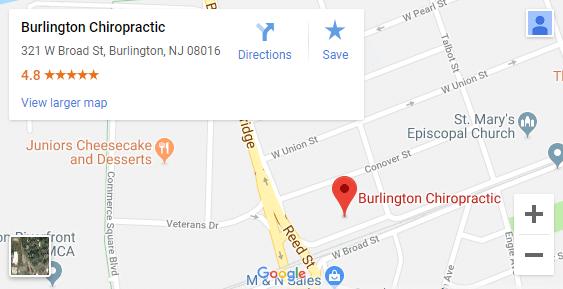 Map of Burlington NJ Chiropractors